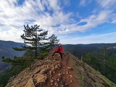 Mirjana Kolarov atop a mountain